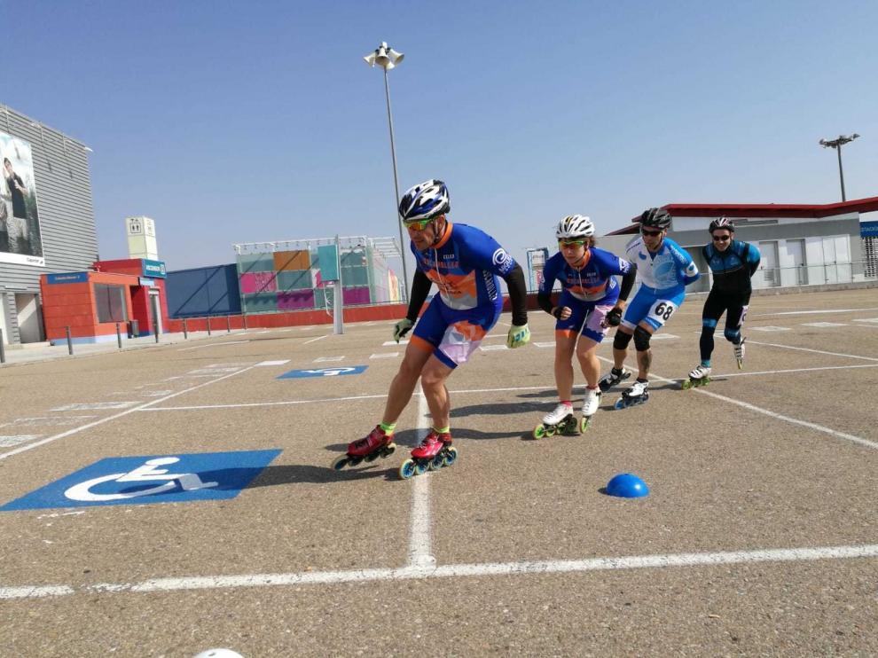 Doblete de Carolina Mairal, en el Campeonato de Aragón de Patinaje de Velocidad