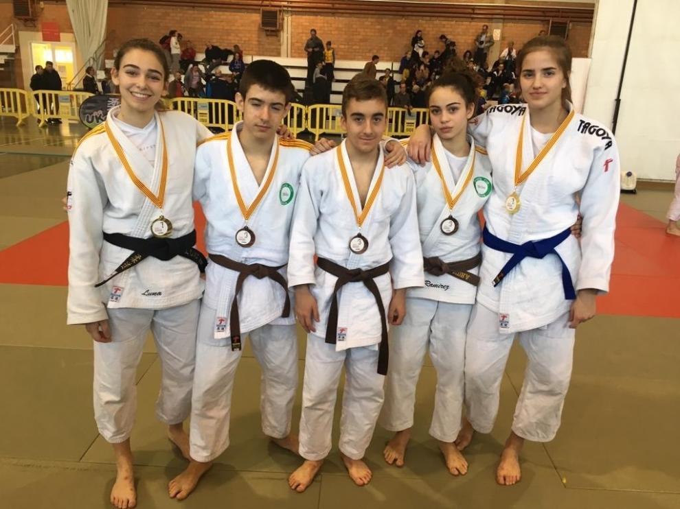 Los judocas altoaragoneses se muestran fuertes en el Campeonato de Aragón