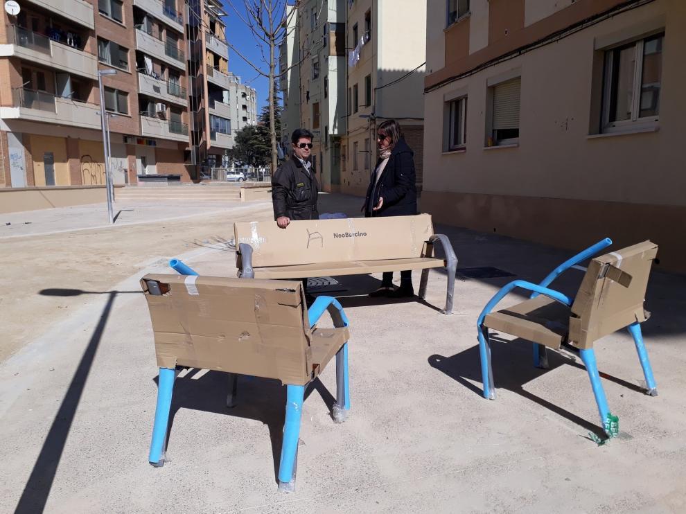Concluye la urbanización de una manzana en el barrio del Perpetuo Socorro de Huesca