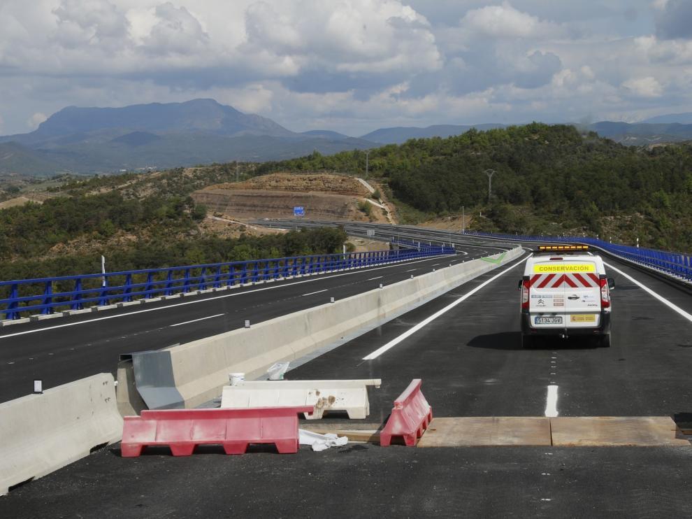La A-21 entre Jaca y Puente la Reina se estrenará antes de que finalice este año