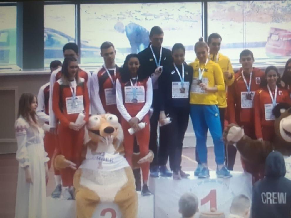 La atleta de Ballobar Elena Daniel se cuelga un bronce en Bielorrusia