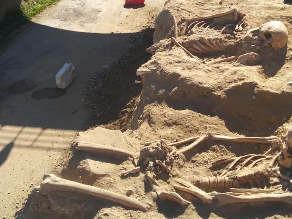 Enterramientos en el yacimiento