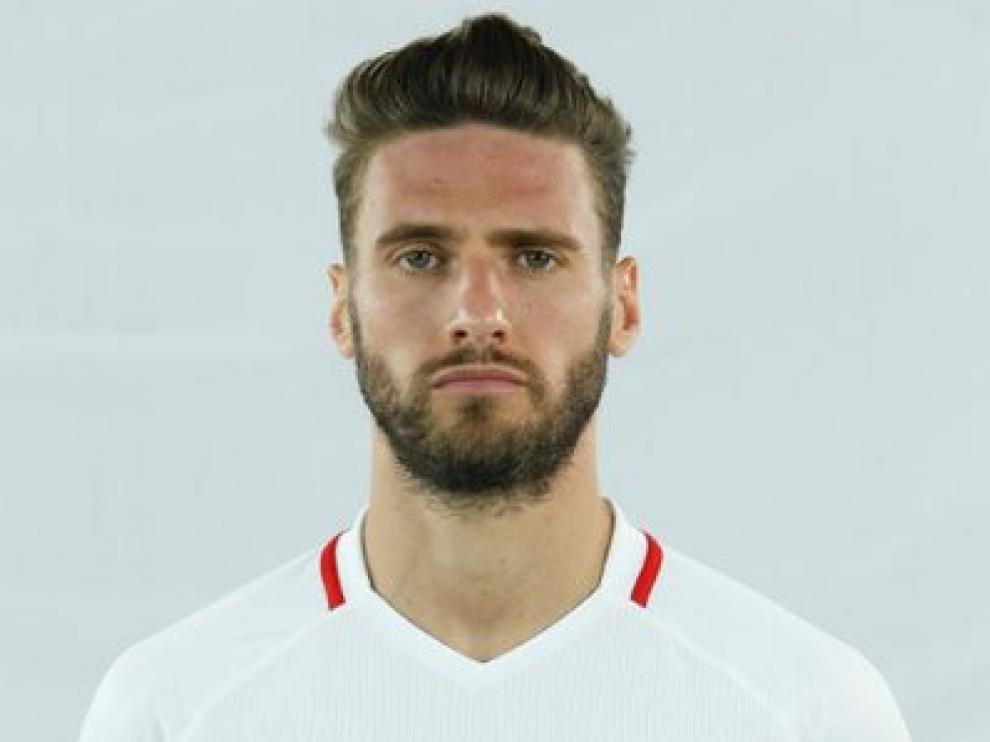 """Sergi Gómez, central del Sevilla: """"Queremos romper en Huesca la mala racha"""""""