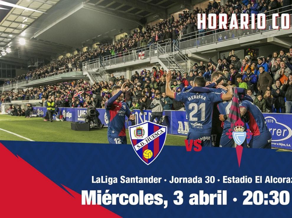 El Huesca-Celta se juega el miércoles 3 de abril y el Levante-Huesca el domingo día 7