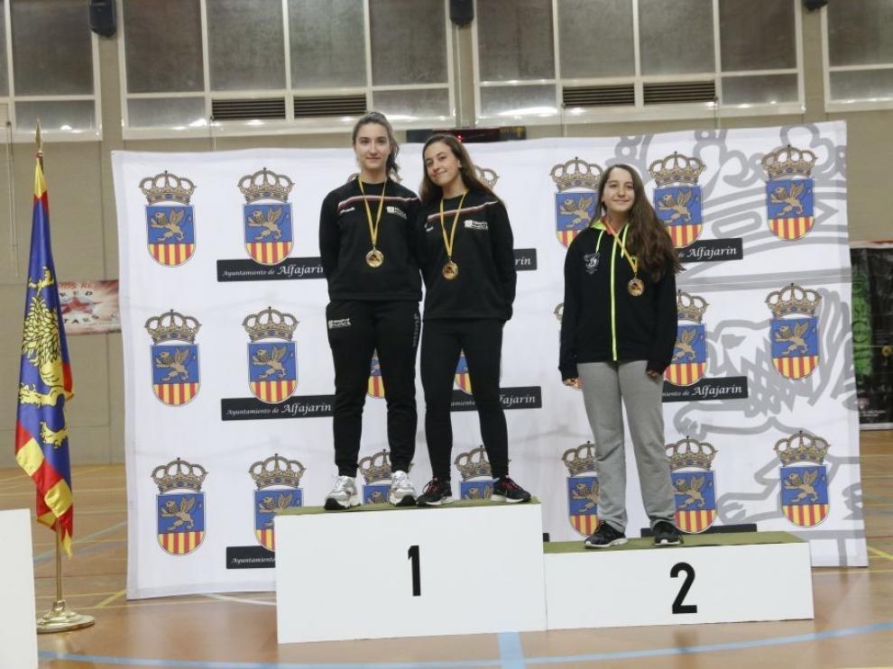 Huesca brilla en el torneo disputado en Alfajarín