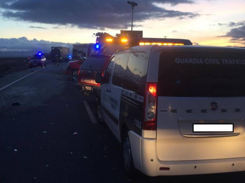 Dos muertos en Agón, en accidente de tráfico
