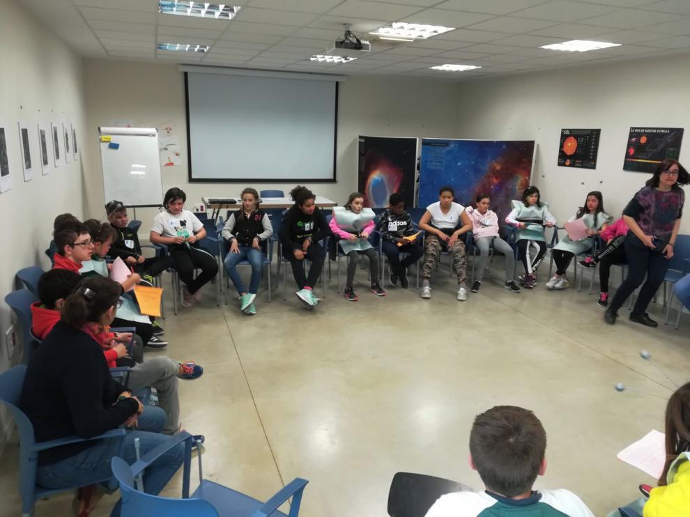 Los consejeros de la Ciudad de las Niñas y los Niños dan ideas para el Planetario de Huesca