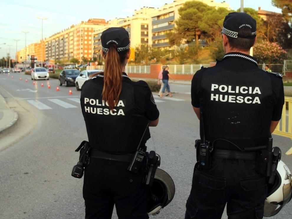 La Policía Local de Huesca auxilió a más de un millar de ciudadanos en 2018