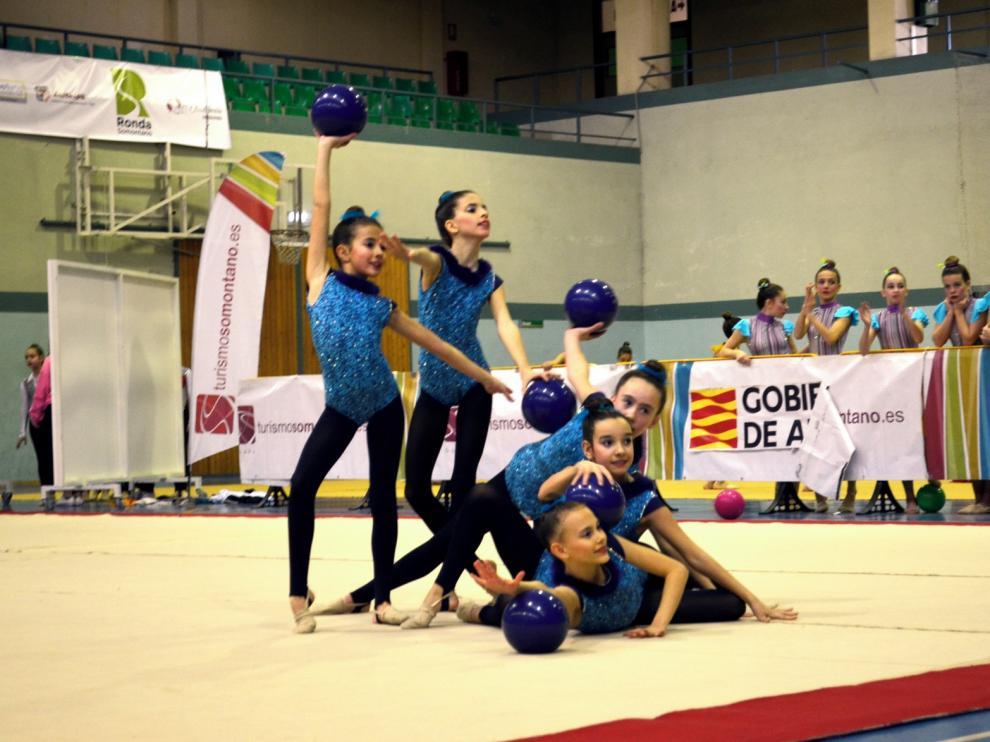 Amplia representación de gimnastas de la provincia en Teruel