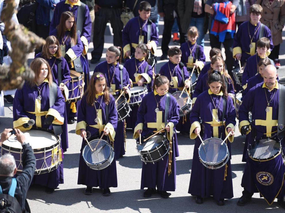 Huesca escucha los 'Sonidos de la Semana Santa' en una primaveral jornada