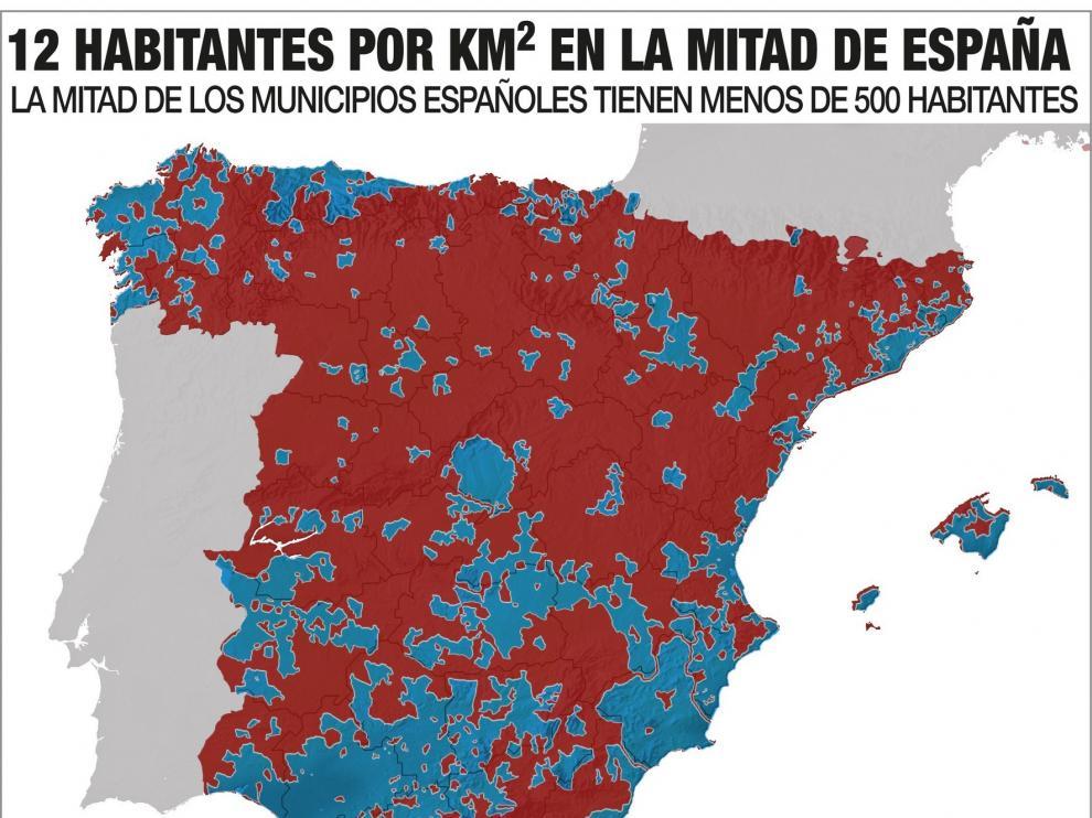 """""""La Revuelta de la España Vaciada"""" alza la voz para exigir medidas contra la despoblación"""