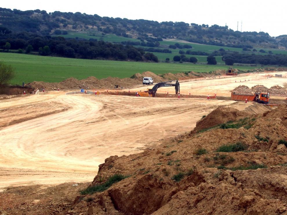 Las obras de la autovía A-22 se centran en tres kilómetros junto a Siétamo