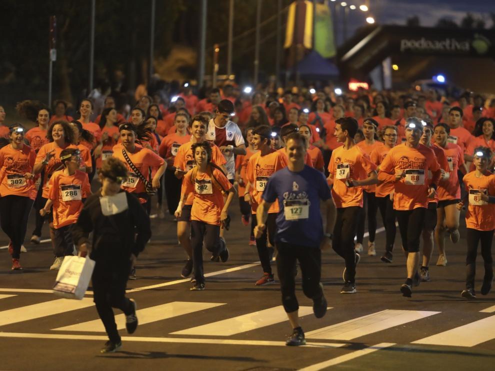 540 deportistas en la Carrera Nocturna de la capital oscense