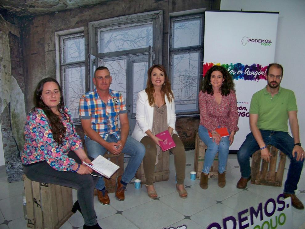 Maru Díaz plantea en Fraga un cambio de modelo económico y social