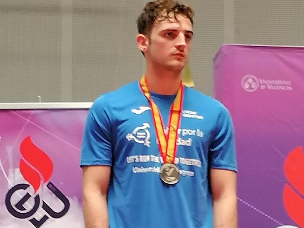 Raúl Poblador, plata en el Nacional Universitario