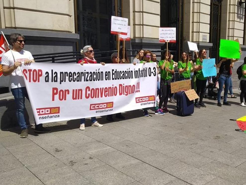 Trabajadoras de las guarderías privadas de Aragón piden un convenio digno