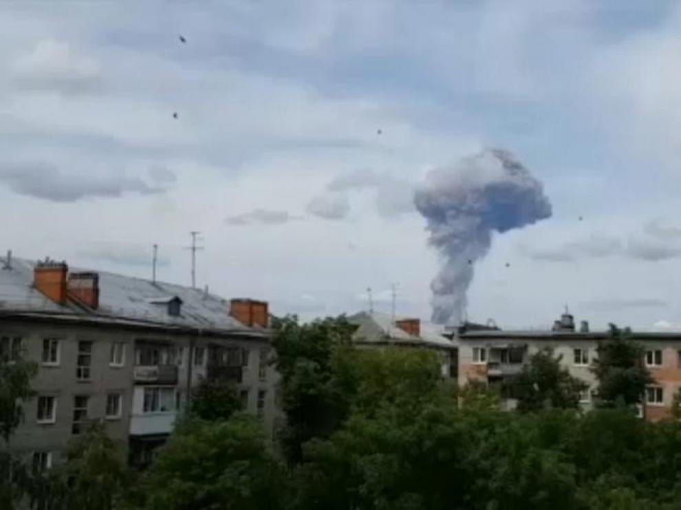 Cadena de explosiones en una fábrica rusa