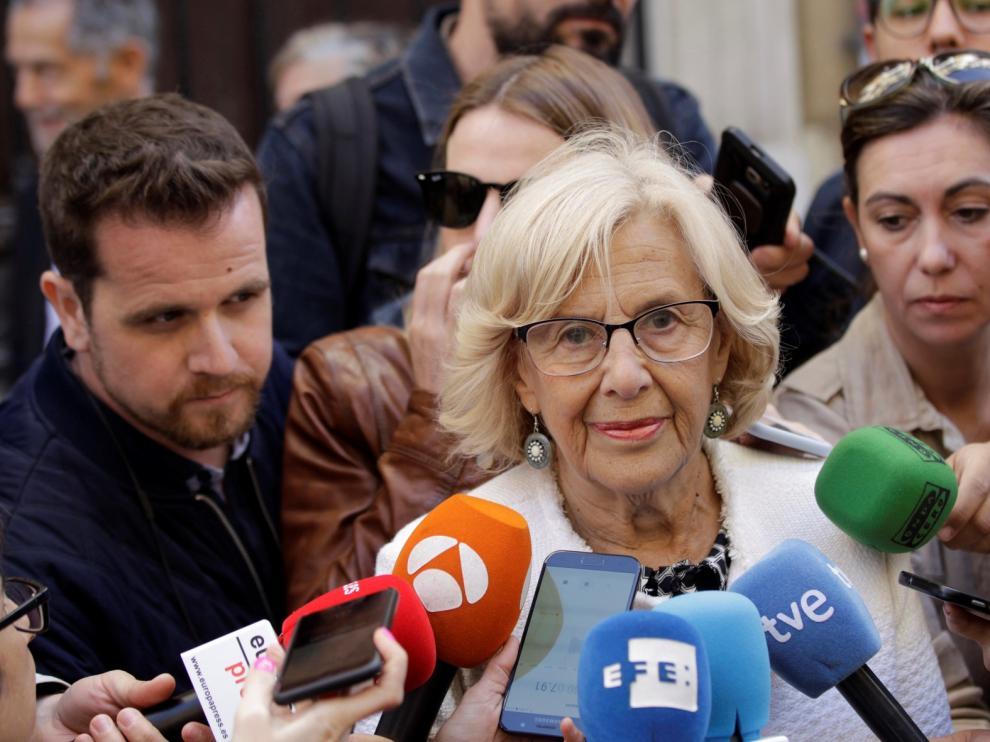 Carmena apela al ejemplo de Valls en Barcelona