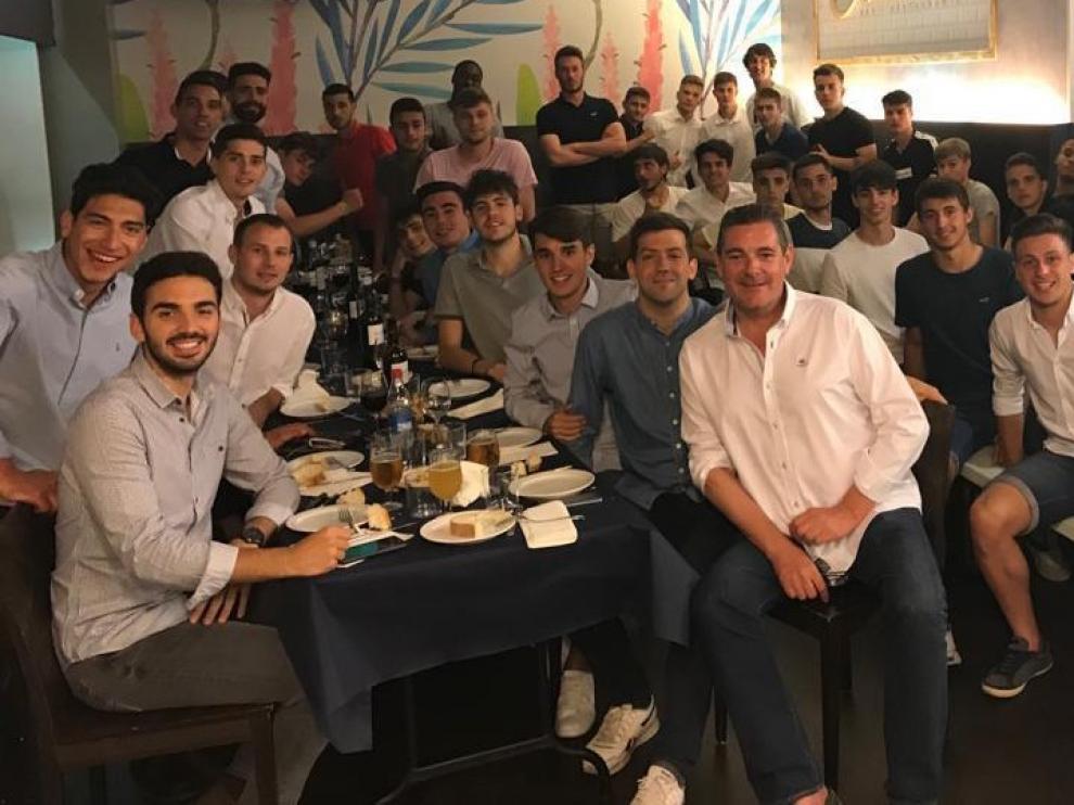Cena de ascensos del filial y juvenil del Huesca