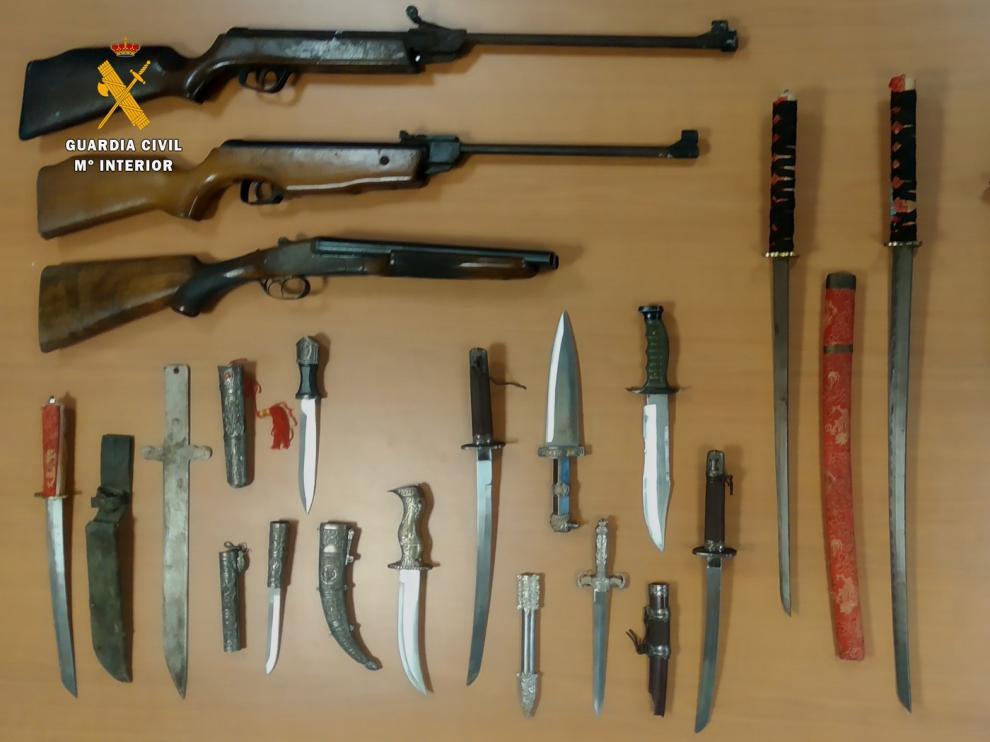 Un detenido en Monzón por un presunto delito de violencia machista y tenencia de armas