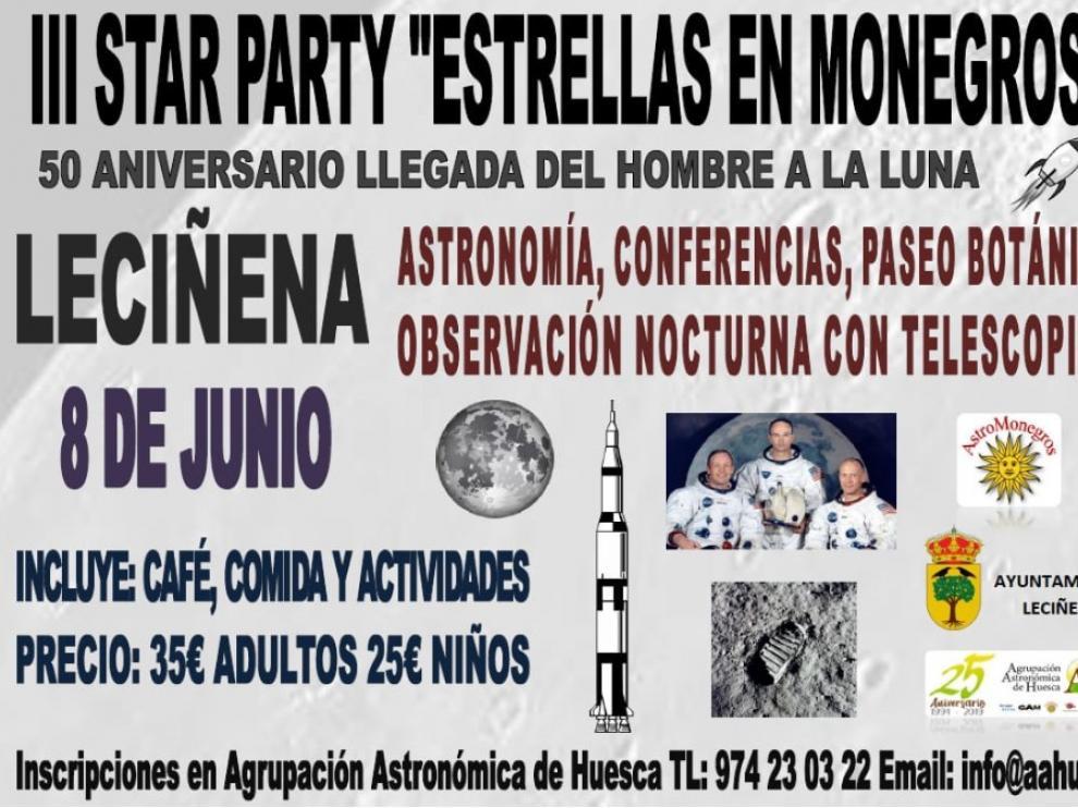"""La localidad de Leciñena acogerá la III Star Party """"Estrellas en Monegros"""""""