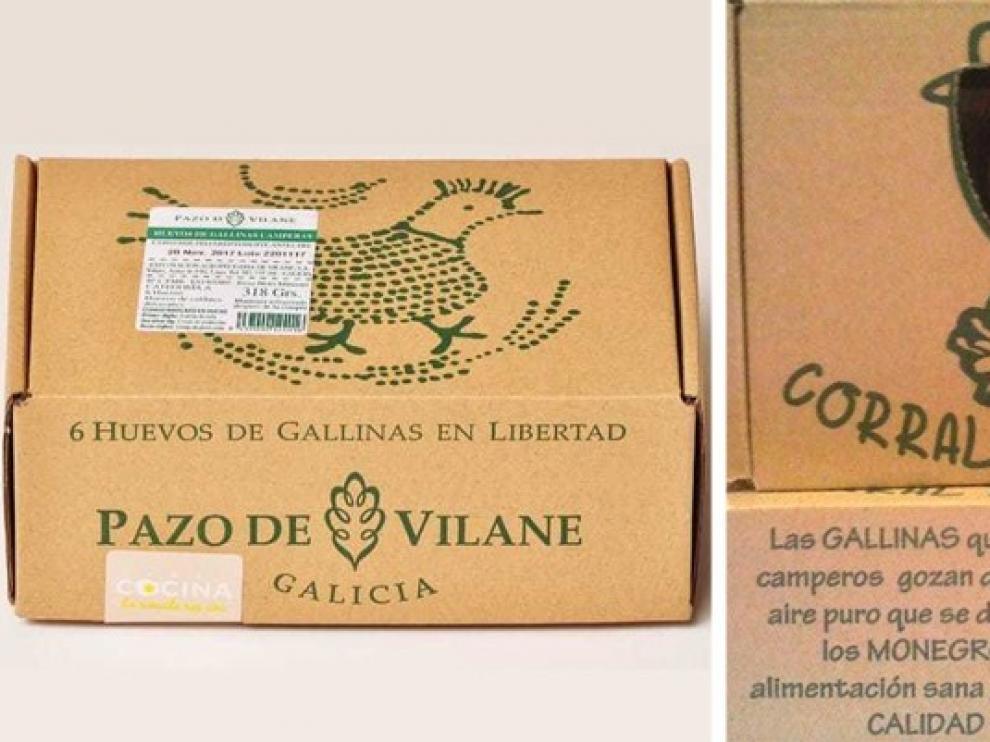 Corral de Monegros de Grañén niega el plagio de la caja de huevos de una empresa lucense