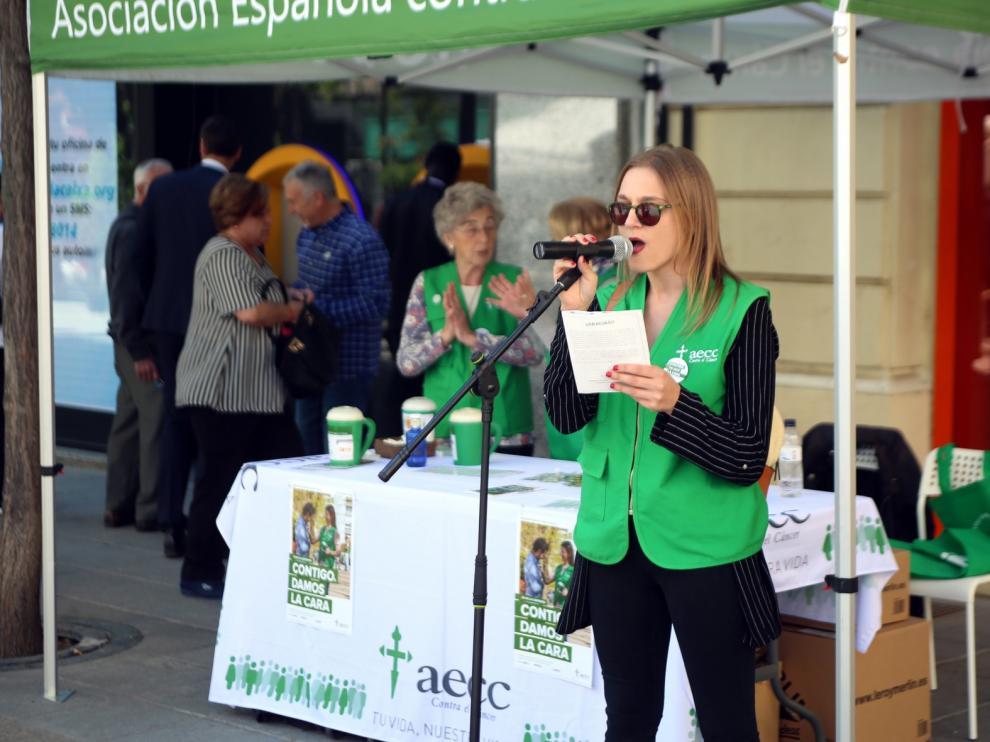 """La AECC pide en Huesca el apoyo social con la iniciativa """"Un minuto contra el cáncer"""""""