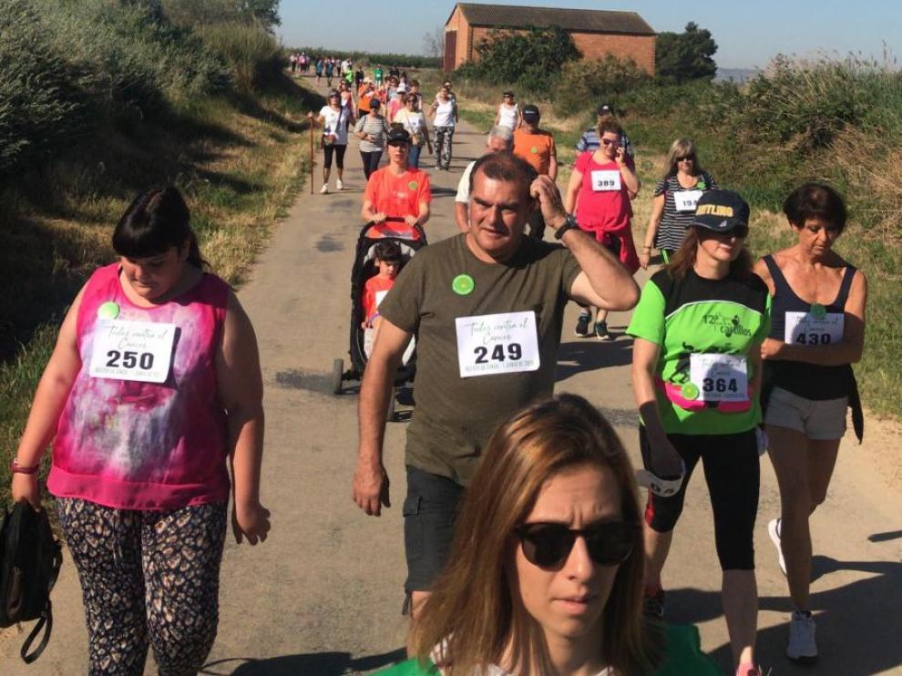 La Andada Popular contra el cáncer reúne en Belver de Cinca a más de 370 personas