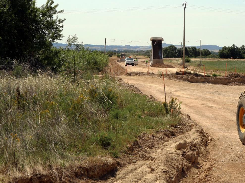 Avanzan las obras del vial que conectará Huesca con la plataforma logística Plhus