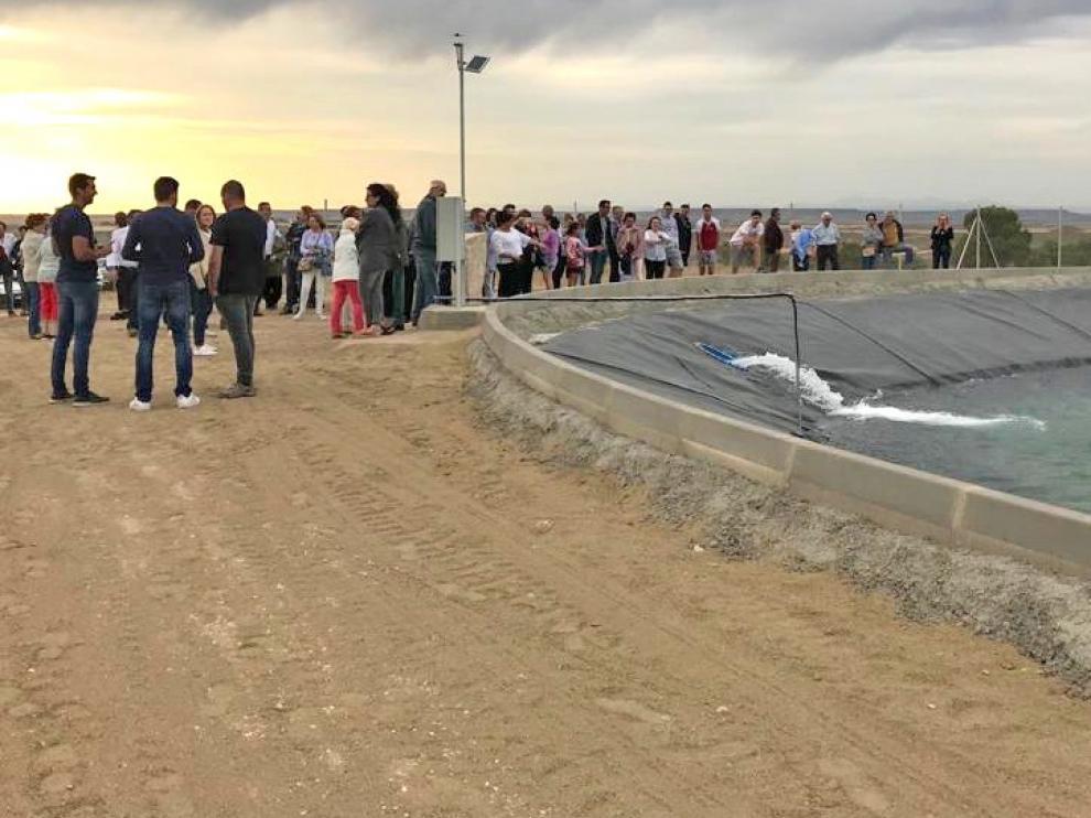 El embalse de San Gregorio ya abastece de agua a la población de Ontiñena