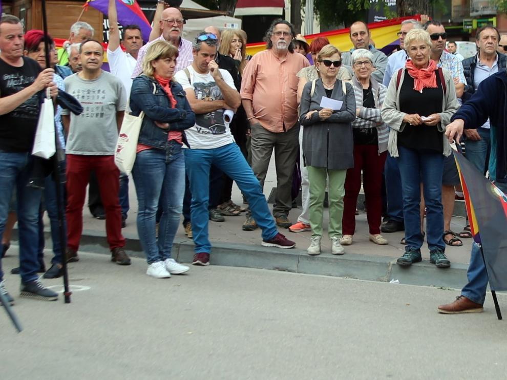Acto en Huesca para exhumar al dictador del Valle de los Caídos