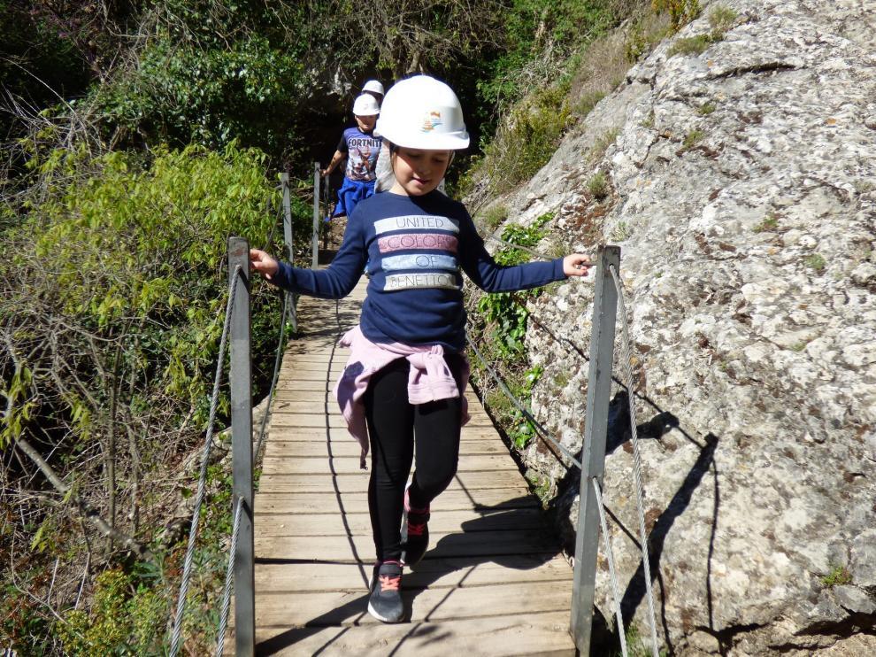 La Ruta de las Pasarelas de Alquézar ha contado con 20.000 visitantes de abril a junio