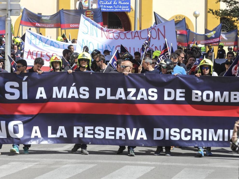 La Diputación de Huesca suspende las oposiciones de Bomberos previstas para este fin de semana