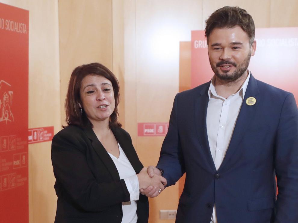 La posible abstención de ERC da aire a la investidura de Sánchez