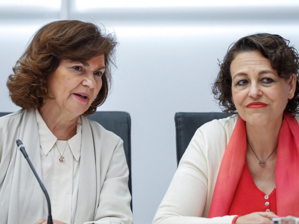 Magdalena Valerio niega que la Seguridad Social esté en quiebra