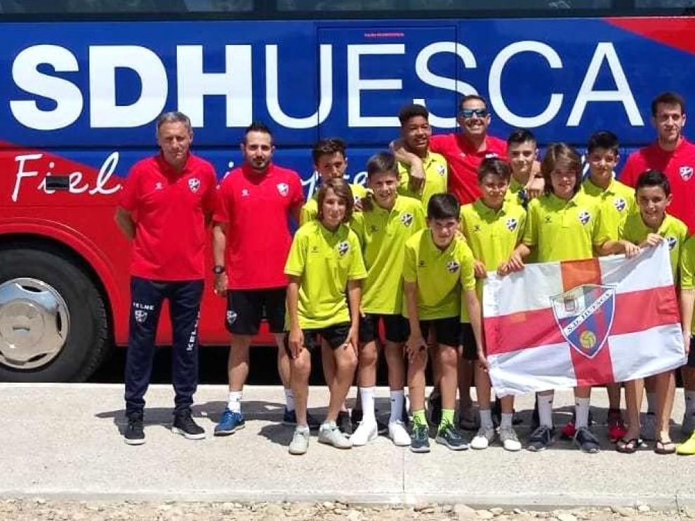 El alevín del Huesca, en la Liga Promises