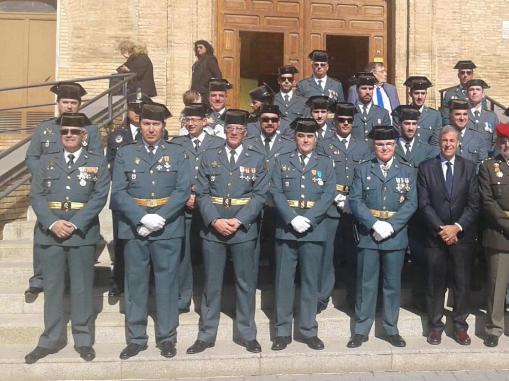 La Guardia Civil organiza una jura de Bandera para personal civil en Barbastro