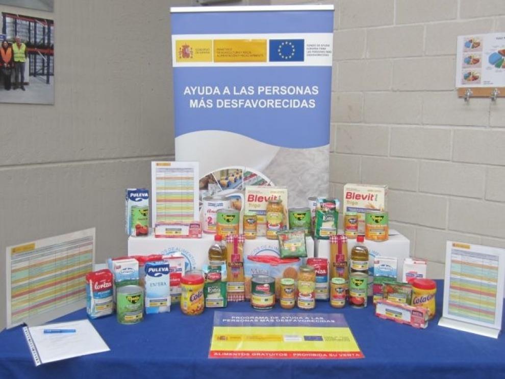 El Gobierno central distribuye 556 toneladas de alimentos en Aragón entre las personas más desfavorecidas