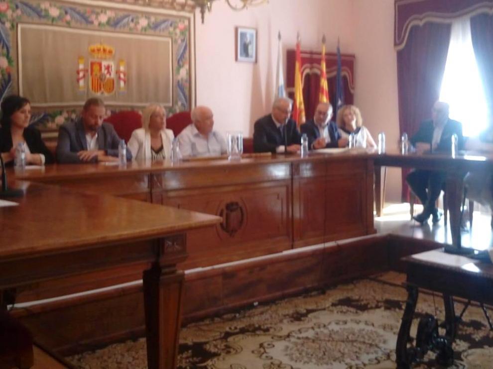 En Sariñena comienza el mandato del socialista Juan Escalzo con Ciudadanos y CHA