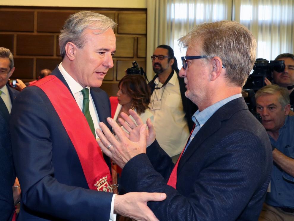 Azcón y Buj, del PP, alcaldes de Zaragoza y Teruel