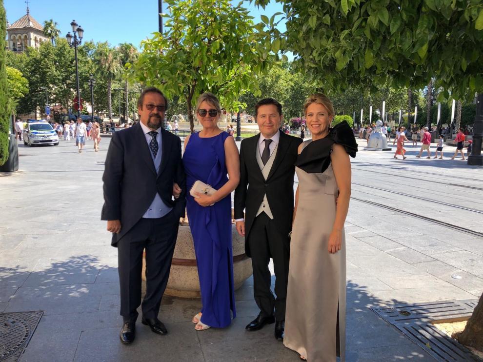 En la boda de Sergio Ramos y Pilar Rubio