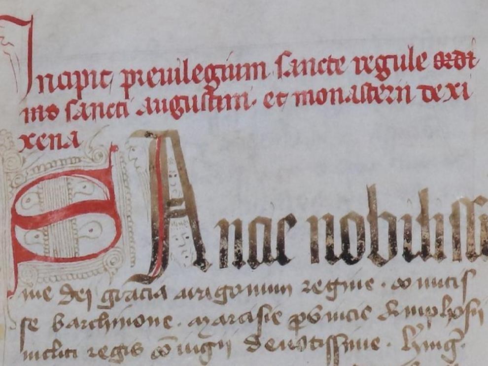 Sijena pide la propiedad de un códice del siglo XIV que salió del monasterio