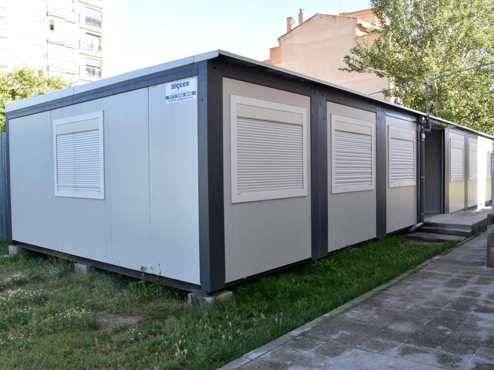 Educación mantendrá las aulas prefabricadas del IES Sierra de Guara de Huesca