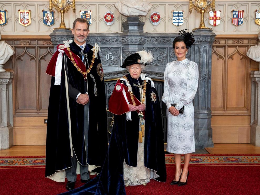 El Rey Felipe VI recibe la Orden de la Jarretera