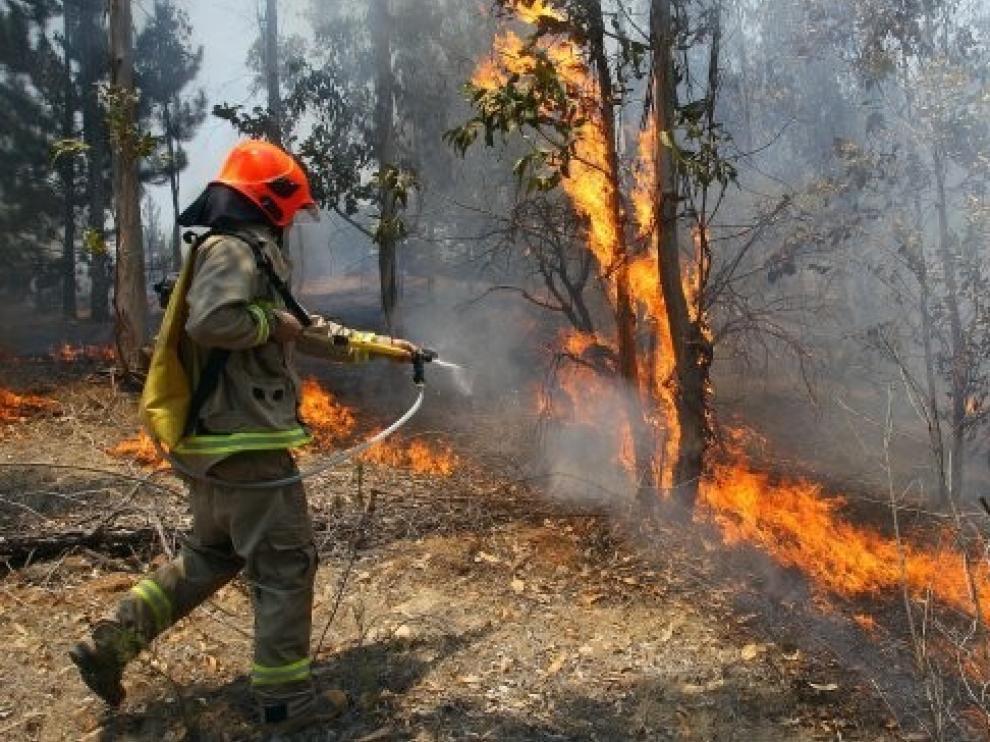 El centro de Aragón pasa a alerta roja por alto riesgo de incendios forestales
