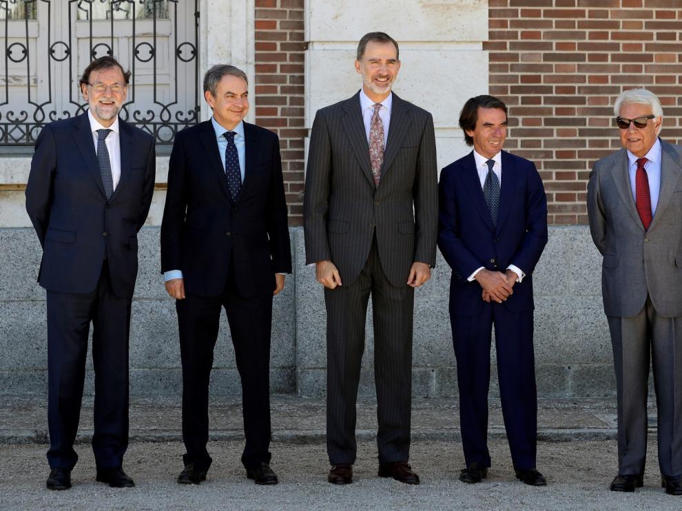 Homenaje de los expresidentes a Felipe VI en su quinto aniversario