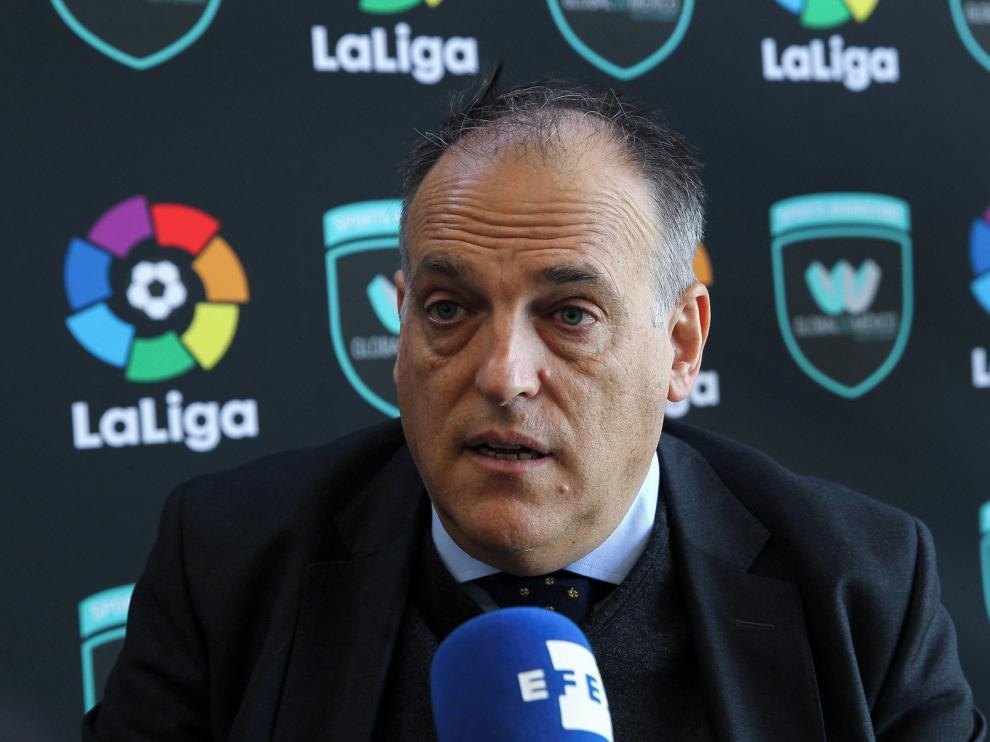 Tebas no ve al Girona en Primera y una liga de 21