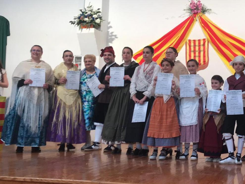 Juan Pueyo y Victoria Torres ganan el concurso de jota del barrio de San Lorenzo de Huesca