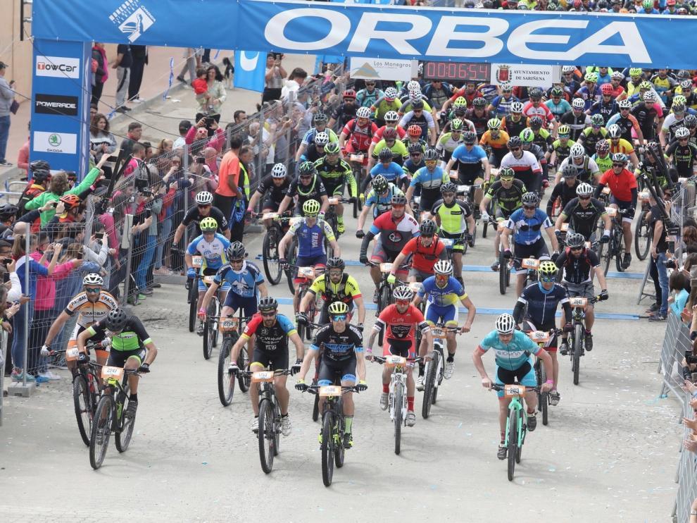 La Quebrantahuesos y la Treparriscos reúne a 11.500 cicloturistas