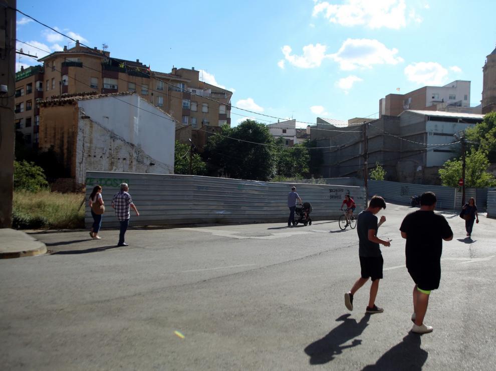 Plantean una plaza ajardinada con parquin subterráneo para la plaza San Voto de Huesca